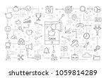 smm icons set. linear... | Shutterstock .eps vector #1059814289