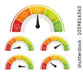 rating satisfaction mood meter... | Shutterstock .eps vector #1059816563
