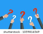 hands holiding question marks...   Shutterstock .eps vector #1059816569