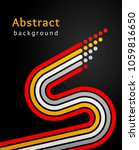 colored stripes with circles... | Shutterstock .eps vector #1059816650