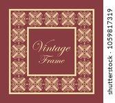 vintage ornamental decorative... | Shutterstock .eps vector #1059817319