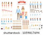 family characters set. parents... | Shutterstock .eps vector #1059817694