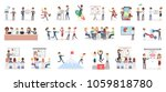 business presentation set.... | Shutterstock .eps vector #1059818780