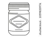 spread icon. outline spread... | Shutterstock .eps vector #1059820976
