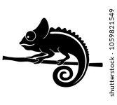 Icon Chameleon. Flat Symbol...