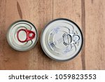 canned food 2 pieces. | Shutterstock . vector #1059823553