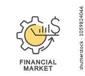 icon financial market. the... | Shutterstock .eps vector #1059824066