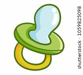 cute and funny green pacifier... | Shutterstock .eps vector #1059825098