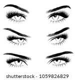 hollow style illustration set... | Shutterstock .eps vector #1059826829