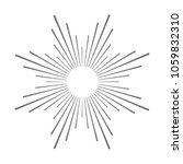 vintage sunburst design element ... | Shutterstock .eps vector #1059832310