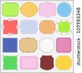 vintage labels  vector eps10... | Shutterstock .eps vector #105983348