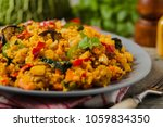couscous oriental. vegetarian... | Shutterstock . vector #1059834350
