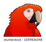 cute parrot macaw cartoon... | Shutterstock .eps vector #1059836348