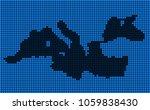 dotted pixelated mediterranean... | Shutterstock .eps vector #1059838430