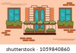 balcony in french style in a... | Shutterstock .eps vector #1059840860