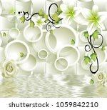 3d abstraction background... | Shutterstock . vector #1059842210