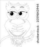 coloring book for adult and... | Shutterstock .eps vector #1059843944
