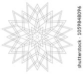 easy mandalas coloring page for ... | Shutterstock . vector #1059848096
