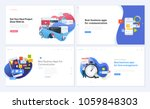set of creative website... | Shutterstock .eps vector #1059848303