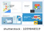 set of creative website... | Shutterstock .eps vector #1059848519