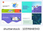 set of creative website... | Shutterstock .eps vector #1059848543