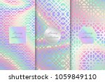 a set of holographic... | Shutterstock .eps vector #1059849110