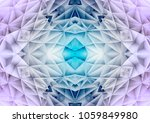 triangle line shape 3d abstract ... | Shutterstock . vector #1059849980