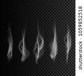 set of smoke. transparent smoke ... | Shutterstock .eps vector #1059852518