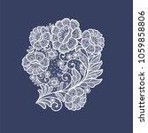 lace flowers decoration element | Shutterstock .eps vector #1059858806