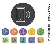 mobile icons set. vector...