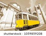 historic tram line in front of... | Shutterstock . vector #1059859208