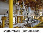 piping of oil and gas process... | Shutterstock . vector #1059861836