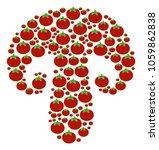 champignon mushroom mosaic of... | Shutterstock .eps vector #1059862838