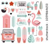 big set of stylish elements on... | Shutterstock .eps vector #1059864653