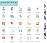 simple set healthcare and... | Shutterstock .eps vector #1059864734