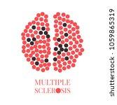 multiple sclerosis awareness... | Shutterstock .eps vector #1059865319