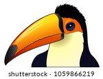 cute toucan cartoon isolated on ... | Shutterstock . vector #1059866219