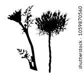 silhouette of a flower. bud.... | Shutterstock .eps vector #1059870560