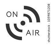 radio signal glyph icon. on air.... | Shutterstock .eps vector #1059871208