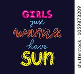girls just wanna have sun  ... | Shutterstock .eps vector #1059873209