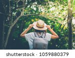 happy lifestyle portrait of a...   Shutterstock . vector #1059880379