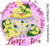 tea made from linden. tea... | Shutterstock .eps vector #1059881798