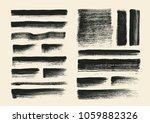 painting brushes set. vector...   Shutterstock .eps vector #1059882326