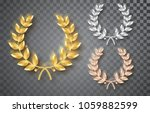award laurel set isolated on a... | Shutterstock .eps vector #1059882599