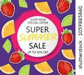 super summer sale banner in...   Shutterstock .eps vector #1059885860
