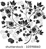 illustration with black and... | Shutterstock .eps vector #10598860