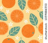 seamless pattern. orange juicy... | Shutterstock .eps vector #1059886553