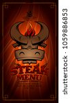 steak menu card design with cow ... | Shutterstock .eps vector #1059886853