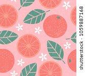 seamless pattern. pink...   Shutterstock .eps vector #1059887168