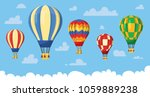 flat hot air balloon | Shutterstock .eps vector #1059889238